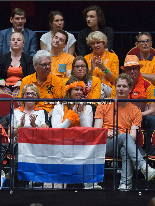 The Netherlands, Den Bosch, 16.04.2014. Fed Cup Netherlands-Japan, Dutch suporters<br /> Photo:Tennisimages/Henk Koster