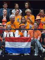 The Netherlands, Den Bosch, 16.04.2014. Fed Cup Netherlands-Japan, Dutch suporters<br /> Photo:Tennisimages/Henk Koster