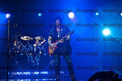 JOURNEY - guitarist Neal Schon performing live at The San Manuel Amphitheatre in Devore, CA USA - July 21, 2012.   Photo © Kevin Estrada / Iconicpix