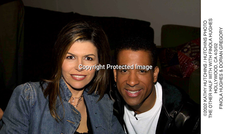 ©2002 KATHY HUTCHINS / HUTCHINS PHOTO.THE OTHER HALF WITH WITH FINOLA HUGHES.HOLLYWOOD, CA 4/3/02.FINOLA HUGHES & DORIAN GREGORY