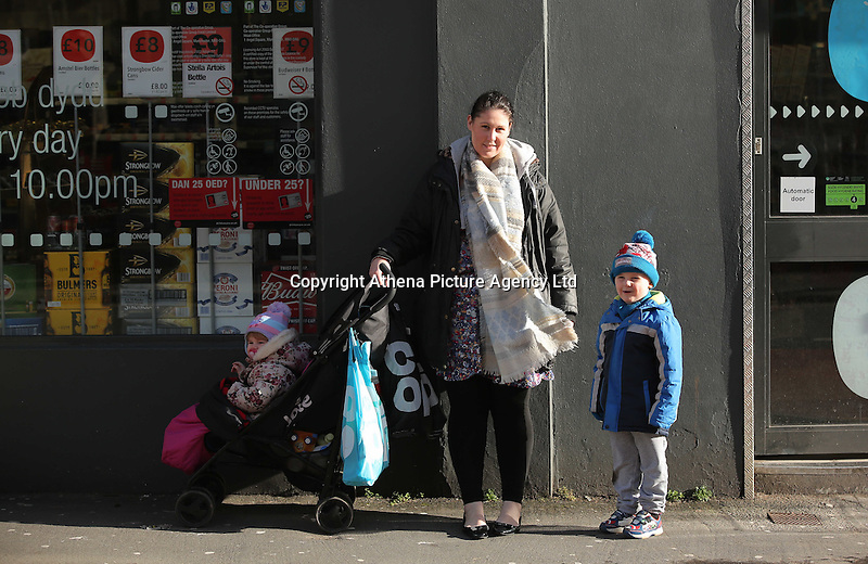 Pictured: Local resident Jodie Painter in Llangennech, west Wales. Thursday 24 February 2017<br />Re: Plans to convert Llangennech Junior School, a bilingual school to one teaching only welsh, has caused a bitter row between campaigners and politicians in Carmarthenshire, Wales, UK.
