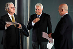 Felipe Gonzalez attends to the act of imposition of the great cross of the civil order of Alfonso X el Sabio to D. Francisco Luzon Lopez at Reina Sofia Museum in Madrid. March 13, 2017. (ALTERPHOTOS/Borja B.Hojas)