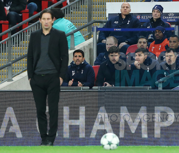 Tottenham's Mauricio Pochettino looks on during the Champions League group E match at the Wembley Stadium, London. Picture date November 2nd, 2016 Pic David Klein/Sportimage