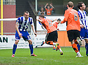 :: DUNDEE UTD'S DAVID GOODWILLIE CELEBRATES AFTER HE  SCORES UNITED'S SECOND :: .23/04/2011   Copyright  Pic : James Stewart.sct_jsp012_dundee_utd_v_kilmarnock .James Stewart Photography 19 Carronlea Drive, Falkirk. FK2 8DN      Vat Reg No. 607 6932 25.Telephone      : +44 (0)1324 570291 .Mobile              : +44 (0)7721 416997.E-mail  :  jim@jspa.co.uk.If you require further information then contact Jim Stewart on any of the numbers above.........