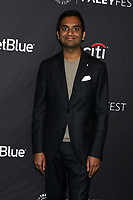 "LOS ANGELES - MAR 21:  Aziz Ansari at the PaleyFest - ""Parks and Recreation"" 10th Anniversary Reunion at the Dolby Theater on March 21, 2019 in Los Angeles, CA"
