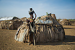 Unidentified women from the Dassanech Tribe in traditional clothing in Omo Valley, Ethiopia.