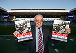 "Willie Henderson with the ""Rangers In Russia"" book detailing the famous 1962 tour behind the Iron Curtain"