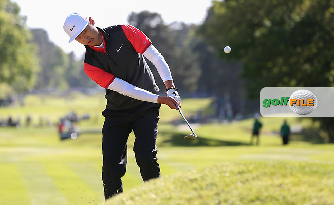 Li Hao-tong (CHN) during Round One of the 2015 BMW PGA Championship over the West Course at Wentworth, Virginia Water, London. 21/05/2015Picture David Lloyd, www.golffile.ie.