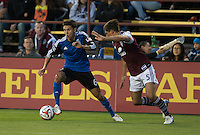 Santa Clara, California - May 7, 2014: The San Jose Earthquakes face off against the Colorado Rapids at Buck Shaw Stadium on Saturday.