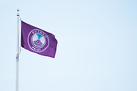 Orlando, FL - Tuesday August 08, 2017: Orlando Pride flag prior to a regular season National Women's Soccer League (NWSL) match between the Orlando Pride and the Chicago Red Stars at Orlando City Stadium.