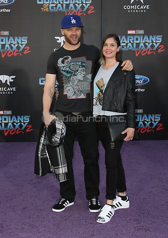 "HOLLYWOOD, CA - April 19: Evan Jones, Rebecca Glatt, At Premiere Of Disney And Marvel's ""Guardians Of The Galaxy Vol. 2"" At The Dolby Theatre  In California on April 19, 2017. Credit: FS/MediaPunch"