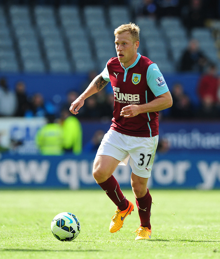 Burnley's Scott Arfield<br /> <br /> Photographer Chris Vaughan/CameraSport<br /> <br /> Football - Barclays Premiership - Burnley v Stoke City - Saturday 16th May 2015 - Turf Moor - Burnley<br /> <br /> &copy; CameraSport - 43 Linden Ave. Countesthorpe. Leicester. England. LE8 5PG - Tel: +44 (0) 116 277 4147 - admin@camerasport.com - www.camerasport.com