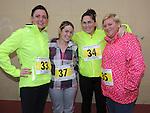 Valerie Collins, Cheryl Sarsfield, Janet Sullivan and Mirro Clarke who took part in the Ferdia 5k run in Ardee. Photo: Colin Bell/pressphotos.ie