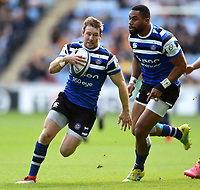 Will Chudley of Bath Rugby in possession. Heineken Champions Cup match, between Wasps and Bath Rugby on October 20, 2018 at the Ricoh Arena in Coventry, England. Photo by: Patrick Khachfe / Onside Images