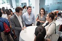 Occidental College Career Services hosts students and employers at the last InternLA meeting of the summer on Friday, July 26, 2019 in the Hameetman Career Center and then in Johnson Hall.<br /> (Photo by Marc Campos, Occidental College Photographer)