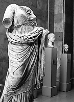 ancient greek scultures; photographed at the Metropolitan Museum of Art, NYC.