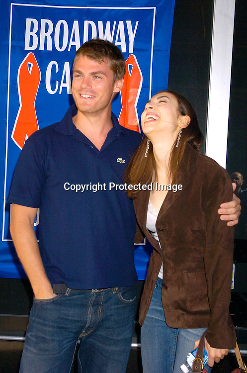 Jeff Branson and Eden Riegel ..at the Broadway Cares/ Equity Fights Aids Flea Market and Grand Auction on September 19, 2004 in Shubert Alley...Photo by Robin Platzer, Twin Images