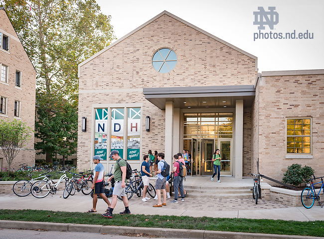 September 21, 2017; North Dining Hall new east entrance (Photo by Matt Cashore/University of Notre Dame)