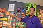 As part of the H.E.A.R.T. partnership with HISD, 17 high school students with disabilities are working and learning on the job at the Houston Food Bank. Trevor from North Forest HS also likes Cheetos.
