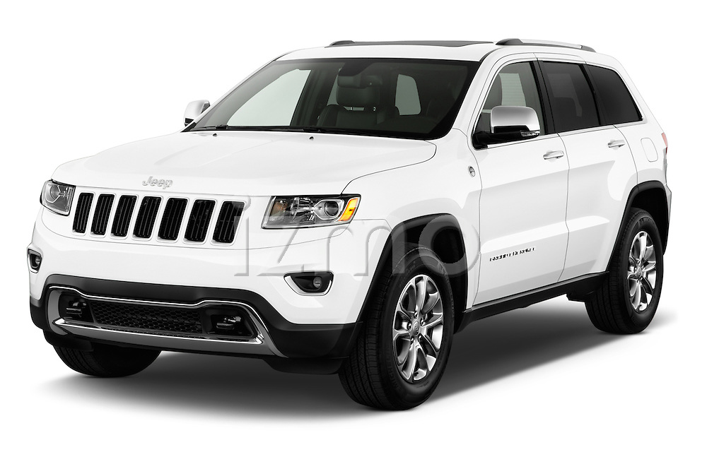 2015 JEEP GRAND CHEROKEE Limited 5 Door SUV 4WD Angular Front stock photos of front three quarter view