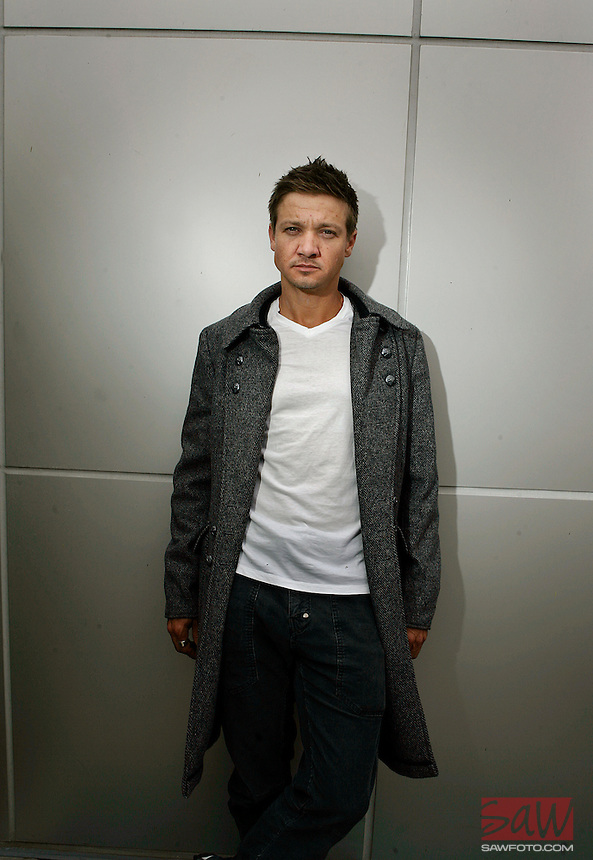 LOS ANGELES,CA - May 29,2009: In his latest film,  The Hurt Locker, Jeremy Renner plays an ice-cool bomb dismantling expert with the U.S. military in Iraq. Actor Jeremy Renner photographed in Los Angeles, May 29 2009.