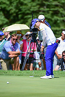 Hye-Jin Choi (a)(KOR) barely misses her birdie putt on 1 during Sunday's final round of the 72nd U.S. Women's Open Championship, at Trump National Golf Club, Bedminster, New Jersey. 7/16/2017.<br /> Picture: Golffile | Ken Murray<br /> <br /> <br /> All photo usage must carry mandatory copyright credit (&copy; Golffile | Ken Murray)