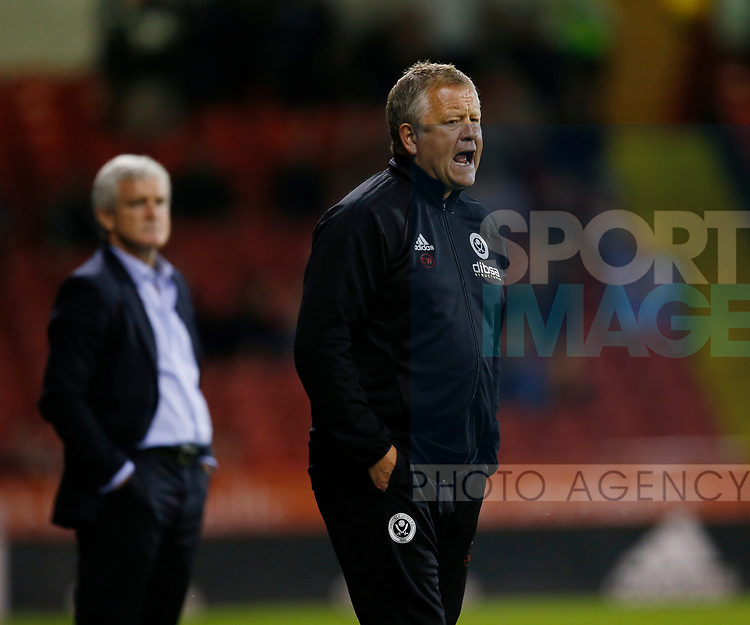Chris Wilder manager of Sheffield Utd during the pre season friendly at Bramall Lane Stadium, Sheffield. Picture date: July 25th 2017. Picture credit should read: Simon Bellis/Sportimage