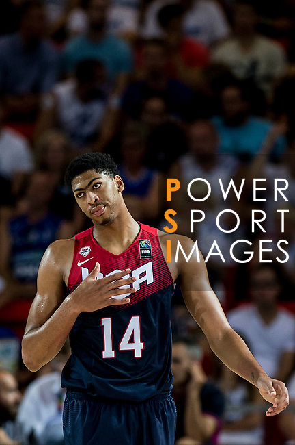 Anthony Davis of United States of America looks on during FIBA Basketball World Cup 2014 group C between United States of America vs Turkey  on August 31, 2014 at the Bilbao Arena stadium in Bilbao, Spain. Photo by Nacho Cubero / Power Sport Images