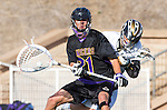 San Diego, CA 05/25/13 - Addison Sherwood (Carlsbad #21) and Andrew Ferguson (Westview #3) in action during the 2013 Boys Lacrosse San Diego CIF DIvision 1 Championship game.  Westview defeated Carlsbad 8-3.