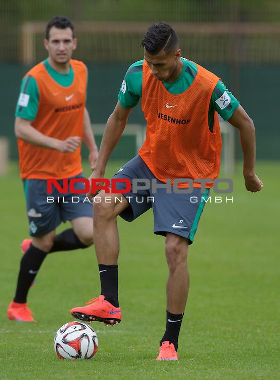 05.05.2015, Trainingsgelaende, Bremen, GER, 1.FBL, Training Werder Bremen, im Bild Davie Selke (Bremen #27)<br /> <br /> Foto &copy; nordphoto / Frisch