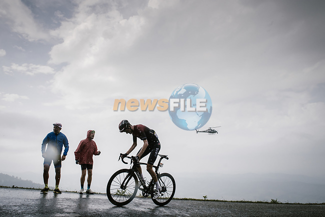 Wout Poels (Ned) Team Ineos climbs Prat d'Albis during Stage 15 of the 2019 Tour de France running 185km from Limoux to Foix Prat d'Albis, France. 20th July 2019.<br /> Picture: ASO/Pauline Ballet   Cyclefile<br /> All photos usage must carry mandatory copyright credit (© Cyclefile   ASO/Pauline Ballet)