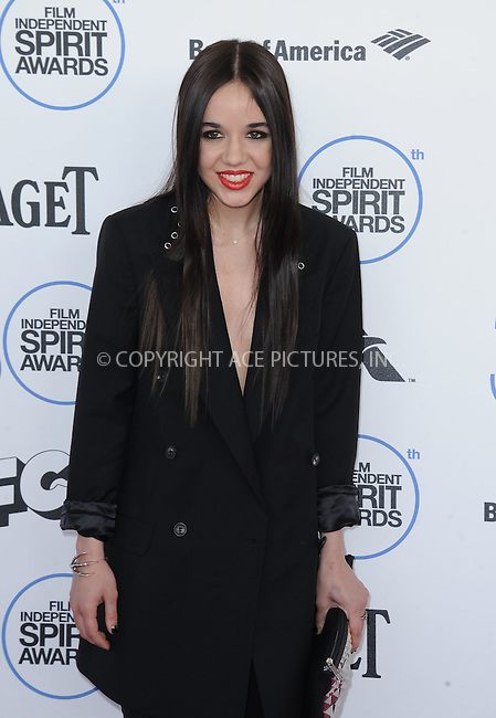 WWW.ACEPIXS.COM<br /> <br /> February 21 2015, LA<br /> <br /> Lorelei Linklater arriving at the 2015 Film Independent Spirit Awards at Santa Monica Beach on February 21, 2015 in Santa Monica, California.<br /> <br /> By Line: Peter West/ACE Pictures<br /> <br /> <br /> ACE Pictures, Inc.<br /> tel: 646 769 0430<br /> Email: info@acepixs.com<br /> www.acepixs.com