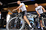 Team Sky on stage at the Team Presentation in Burgplatz Dusseldorf before the 104th edition of the Tour de France 2017, Dusseldorf, Germany. 29th June 2017.<br /> Picture: Eoin Clarke | Cyclefile<br /> <br /> <br /> All photos usage must carry mandatory copyright credit (&copy; Cyclefile | Eoin Clarke)