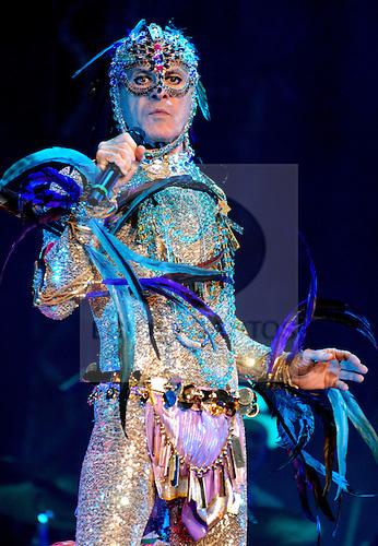 Ney Matogrosso, brasilian singer, performs at Coliseu do Porto, in 19 October 2008.