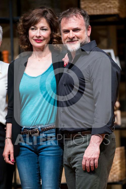 Maria Lanau  and Xavi Mira during theater play of &quot;Los vecinos de arriba&quot; at Teatro Circulo de Bellas Artes in Madrid, April 25, 2017. Spain.<br /> (ALTERPHOTOS/BorjaB.Hojas)
