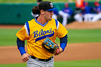 Biloxi Shuckers outfielder Clint Coulter (12) during a Southern League game against the Tennessee Smokies on May 25, 2017 at Smokies Stadium in Kodak, Tennessee.  Tennessee defeated Biloxi 10-4. (Brad Krause/Krause Sports Photography)