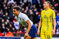 Everton's forward Dominic Calvert-Lewin (9) for England U21's  celebrates during the International Euro U21 Qualification match between England U21 and Ukraine U21 at Bramall Lane, Sheffield, England on 27 March 2018. Photo by Stephen Buckley / PRiME Media Images.