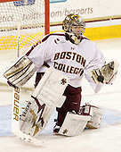 Parker Milner (BC - 35) - The Boston College Eagles defeated the Merrimack College Warriors 4-2 to give Head Coach Jerry York his 900th collegiate win on Friday, February 17, 2012, at Kelley Rink at Conte Forum in Chestnut Hill, Massachusetts.