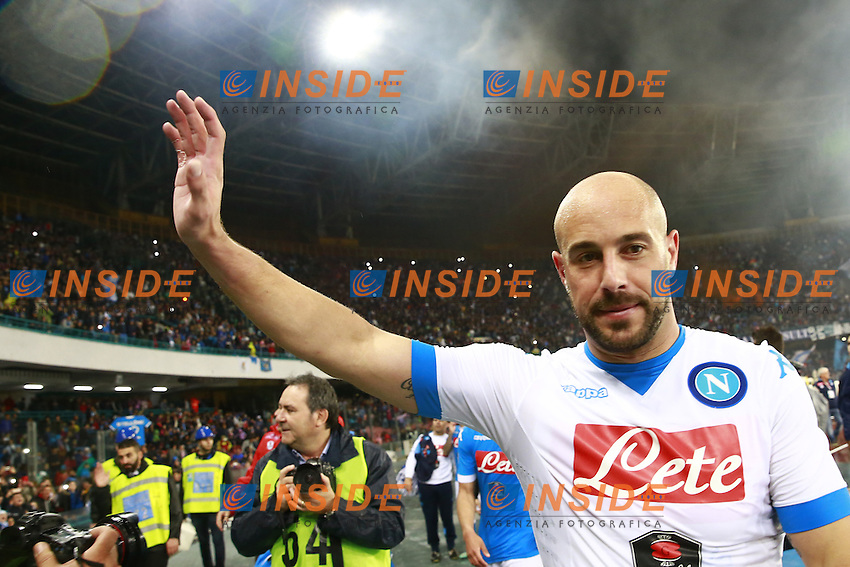 Jose Manuel Reina Napoli,  <br /> Napoli 14-05-2016 Stadio San Paolo<br /> Football Calcio Serie A 2015/2016 Napoli - Frosinone<br /> Foto Cesare Purini / Insidefoto