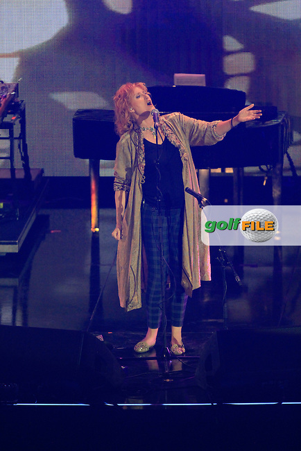 Eddi Reader during the Ryder Cup Gala Concert 2014 at SSE Hydro on Wednesday 24th September 2014.<br /> Picture:  Thos Caffrey / www.golffile.ie