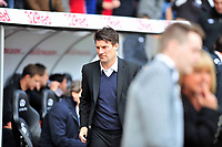 Pictured: Swansea City manager Michael Laudrup.<br /> Saturday 04 May 2013<br /> Re: Barclay's Premier League, Swansea City FC v Manchester City at the Liberty Stadium, south Wales.