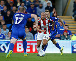Samir Carruthers of Sheffield Utd during the Championship match at the Cardiff City Stadium, Cardiff. Picture date: August 15th 2017. Picture credit should read: Simon Bellis/Sportimage