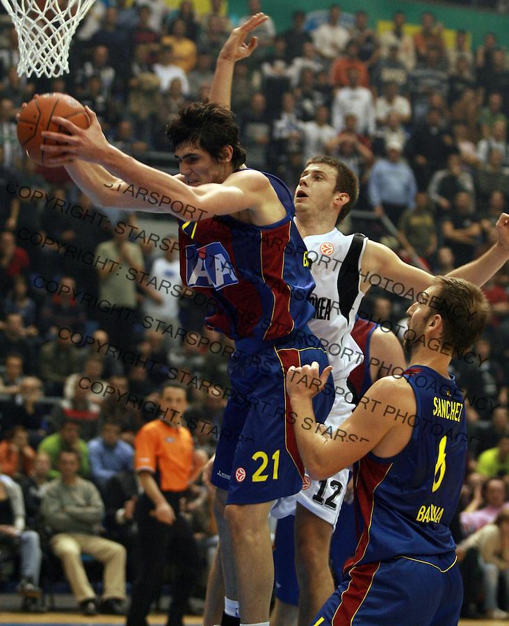 Sport Kosarka Evroliga Euroleague Partizan Barselona Barcelona Basketball Ilyasova Ersan 24.10.2007. photo: Pedja Milosavljevic