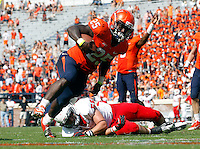 Virginia running back Kevin Parks (25)Ball State defeated Virginia 48-27 during an NCAA football game Saturday Oct. 5, 2013 at Scott Stadium in Charlottesville, VA. Photo/Andrew Shurtleff