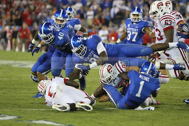 during the University of Kentucky football game against Western Kentucky University, and Commonwealth Stadium in Lexington, Ky., on Saturday September 15th. Photo by Kirsten Holliday