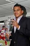 19 November 2010:  David Ferreira of FC Dallas was awarded the 2010 MLS Most Valuable Player trophy at BMO Field in .Toronto, Ontario, Canada as part of their preparations for MLS Cup 2010, Major League Soccer's championship game.