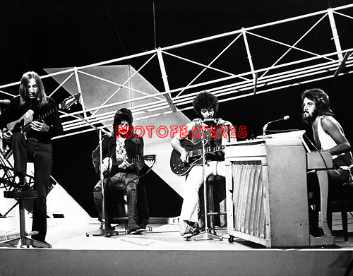 Mungo Jerry 1971  John Godgrey, Paul King, Ray Dorset and Colin Earl on Top Of The Pops.© Chris Walter.