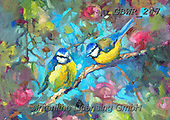 Simon, REALISTIC ANIMALS, REALISTISCHE TIERE, ANIMALES REALISTICOS, innovative, paintings+++++A_SueG_BluebirdsAndBlossom,GBWR247,#a#, EVERYDAY