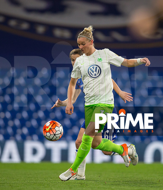 Alexandra Popp of VfL Wolfsburg (women) during the UEFA Women's Champions League match between Chelsea Ladies and VfL Wolfsburg at Stamford Bridge, London, England on 5 October 2016. Photo by Andy Rowland.