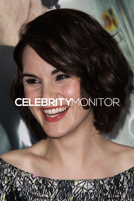 """WESTWOOD, CA, USA - FEBRUARY 24: Michelle Dockery at the World Premiere Of Universal Pictures And Studiocanal's """"Non-Stop"""" held at Regency Village Theatre on February 24, 2014 in Westwood, Los Angeles, California, United States. (Photo by Xavier Collin/Celebrity Monitor)"""
